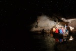 Stock photo from NZ Real Journeys of the boat used in the cave