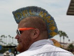 "Yes, his Mohawk says ""Del Mar""... and on the other side..."