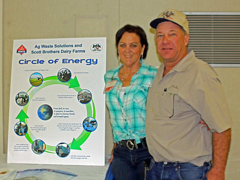 """Bruce & I with our """"Circle of Energy""""."""