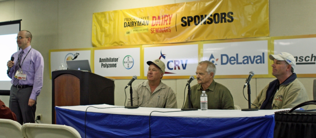 Walt Cooley of Progressive Dairy Magazine introducing Bruce, Steve & Brad.